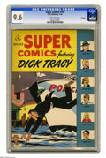 Golden Age (1938-1955):Miscellaneous, Super Comics #102 File Copy (Dell, 1946) CGC NM+ 9.6 Off-white pages. Dick Tracy was the star of this title which ran from 1...