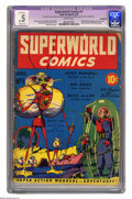 Golden Age (1938-1955):Science Fiction, Superworld Comics #1 (Hugo Gernsback, 1940) CGC Apparent PR 0.5Slight (A) Brittle pages. Don't stop reading! Not until you'...