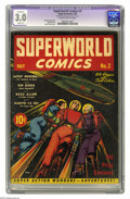 Golden Age (1938-1955):Science Fiction, Superworld Comics #2 (Hugo Gernsback, 1940) CGC Apparent GD/VG 3.0Slight (A) Slightly brittle pages. None of the three issu...(Total: 3 Comic Books Item)
