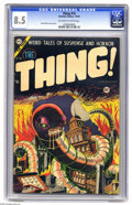 Golden Age (1938-1955):Horror, The Thing! #15 (Charlton, 1954) CGC VF+ 8.5 Off-white to whitepages. Very early Steve Ditko art graces this issue; Ditko's ...