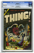 Golden Age (1938-1955):Horror, The Thing! #17 River City pedigree (Charlton, 1954) CGC VF+ 8.5Off-white to white pages. Steve Ditko conjured up a bewitchi...