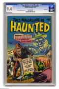Golden Age (1938-1955):Horror, This Magazine Is Haunted #8 Crowley Copy pedigree (Fawcett, 1952)CGC NM 9.4 Off-white pages. Here's a dose of pre-Code horr...