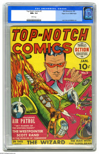 Top-Notch Comics #2 Mile High pedigree (MLJ, 1940) CGC NM+ 9.6 White pages. This is one of the earliest offerings by MLJ...