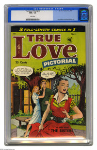 True Love Pictorial #3 (St. John, 1953) CGC NM+ 9.6 White pages. Romance comics from the early 50s are very rarely found...