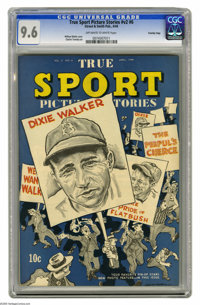 True Sport Picture Stories V2#6 Crowley Copy pedigree (Street & Smith, 1944) CGC NM+ 9.6 Off-white to white page...