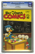 Golden Age (1938-1955):Funny Animal, Walt Disney's Comics and Stories #61 (Dell, 1945) CGC VF+ 8.5 Creamto off-white pages. Donald Duck story by Carl Barks; Wal...