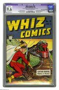 Golden Age (1938-1955):Superhero, Whiz Comics #18 Mile High pedigree (Fawcett, 1941) CGC Apparent NM+ 9.6 Moderate (P) Off-white to white pages. Fawcett's bes...