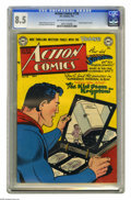 Golden Age (1938-1955):Superhero, Action Comics #158 (DC, 1951) CGC VF+ 8.5 Off-white to white pages. Superman's origin is recapped in this issue, and the Man...