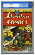Golden Age (1938-1955):Superhero, Adventure Comics #42 Mile High pedigree (DC, 1939) CGC NM 9.4 Off-white to white pages. The original Golden Age Sandman, com...