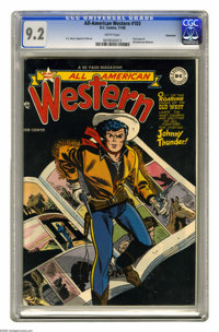 All-American Western #103 Vancouver pedigree (DC, 1948) CGC NM- 9.2 White pages. This is the first issue of the title, c...