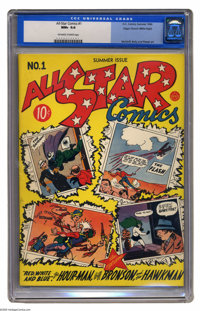 All Star Comics #1 Mile High pedigree (DC, 1940) CGC NM+ 9.6 Off-white to white pages. Having spotted the presence of a...