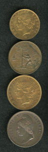 Liberia, Liberia: A nice 4-piece lot as follows:... (Total: 4 coins)