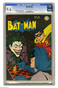 Golden Age (1938-1955):Superhero, Batman #23 (DC, 1944) CGC NM+ 9.6 Off-white to white pages. A 9.6 copy of an issue with a black cover is quite a find in its...