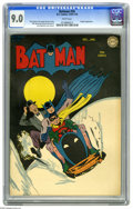 Golden Age (1938-1955):Superhero, Batman #26 (DC, 1945) CGC VF/NM 9.0 White pages. You know the Batmobile, the Batplane, the Batboat, and even the Bat-gyro, b...
