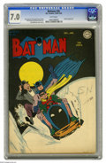 Golden Age (1938-1955):Superhero, Batman #26 (DC, 1945) CGC FN/VF 7.0 White pages. Jerry Robinson's cover illustration shows our heroes (with faithful compani...