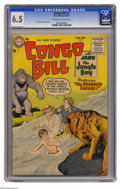 """Golden Age (1938-1955):Miscellaneous, Congo Bill #7 (DC, 1955) CGC FN+ 6.5 Off-white to white pages. This last issue of the title is called """"scarce"""" by Overstreet..."""