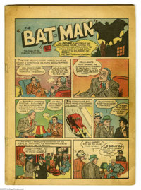 Detective Comics #27 (DC, 1939) Condition: Coverless. This is the first appearance of Batman, and the second most-valuab...