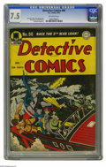 Golden Age (1938-1955):Superhero, Detective Comics #90 (DC, 1944) CGC VF- 7.5 Off-white pages. Dick Sprang created this cover and also provided interior art f...