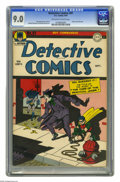 Golden Age (1938-1955):Superhero, Detective Comics #91 (DC, 1944) CGC VF/NM 9.0 Off-white to white pages. The Joker never just committed any old crime -- he l...