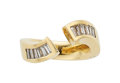 Estate Jewelry:Rings, Diamond, Gold Ring The ring features baguette-...