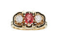 Estate Jewelry:Rings, Ruby, Diamond, Enamel, Gold Ring The ring feat...