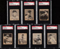 Autographs:Sports Cards, Signed 1948 Bowman Baseball SGC Authentic Collection (7)....