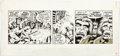Original Comic Art:Comic Strip Art, Rick Hoberg and Dave Stevens Star Wars Daily Comic StripOriginal Art dated 7-25-80 (Los Angeles Times Syndicate, ...