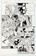 Original Comic Art:Panel Pages, Rick Hoberg and Willie Blyberg New Gods #21 Partial StoryOriginal Art Group of 8 (DC, 1990).... (Total: 8 Original Art)