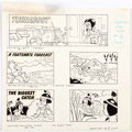 Original Comic Art:Panel Pages, Phil De Lara Disney and Warners Cartoon Characters PreviewPages Original Art Group of 3 (Gold Key/Western, 1973).... (Total:3 Original Art)