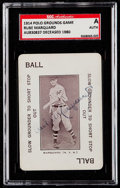 Autographs:Sports Cards, Signed 1914 Polo Grounds Game Rube Marquard SGC Authentic....