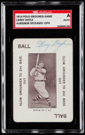 Autographs:Sports Cards, Signed 1914 Polo Grounds Game Larry Doyle SGC Authentic....