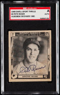 Autographs:Sports Cards, Signed 1948 Swell Sport Thrills Pete Reiser #2 SGC Authentic. ...