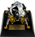 Explorers:Space Exploration, Lunar Excursion Module Model, 1/48 Scale, Signed by Buzz Aldrin and George Takei....