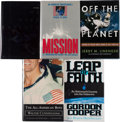 Autographs:Celebrities, NASA Astronauts (and a Payload Specialist): Five Signed Books. ...(Total: 5 Items)