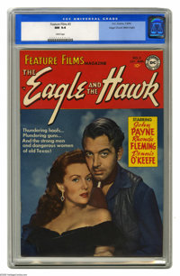 Feature Films #3 Mile High pedigree (DC, 1950) CGC NM 9.4 White pages. A smoldering Rhonda Fleming graces this photo cov...