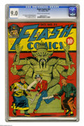 Golden Age (1938-1955):Superhero, Flash Comics #22 (DC, 1941) CGC VF/NM 9.0 Cream to off-white pages. A scowling six-armed idol looks menacing as two sword-wi...