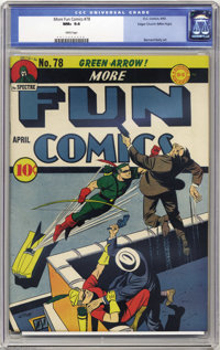 More Fun Comics #78 Mile High pedigree (DC, 1942) CGC NM+ 9.6 White pages. While the Green Arrow was never considered a...