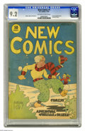 Platinum Age (1897-1937):Miscellaneous, New Comics #1 (DC, 1935) CGC NM- 9.2 Off-white to white pages. This is the first issue of DC Comics' second series, and the ...