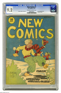 New Comics #1 (DC, 1935) CGC NM- 9.2 Off-white to white pages. This is the first issue of DC Comics' second series, and...