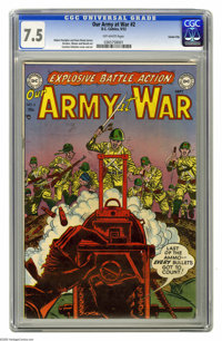 Our Army at War #2 Carson City pedigree (DC, 1952) CGC VF- 7.5 Off-white pages. Have a good look at this copy, as it may...