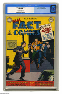 Real Fact Comics #19 Mile High pedigree (DC, 1949) CGC NM+ 9.6 Off-white to white pages. This lovely Mile High copy has...