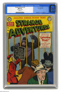 Golden Age (1938-1955):Science Fiction, Strange Adventures #8 White Mountain pedigree (DC, 1951) CGC NM 9.4White pages. There's a gorilla on the cover... and he's ...