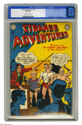 Golden Age (1938-1955):Science Fiction, Strange Adventures #15 (DC, 1951) CGC NM 9.4 Off-white to whitepages. The circus freaks are planning to take over the plane...