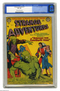 """Golden Age (1938-1955):Superhero, Strange Adventures #17 (DC, 1952) CGC VF+ 8.5 Cream to off-white pages. """"More fearsome than the Frankenstein Monster"""" -- tha..."""