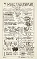 "Original Comic Art:Miscellaneous, Todd Klein - ""A Lettering Sampler"" Limited Edition Print #67/500(1993)...."