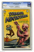 Golden Age (1938-1955):Science Fiction, Strange Adventures #21 (DC, 1952) CGC NM- 9.2 Cream to off-whitepages. Murphy Anderson's clever cover illustration turns th...
