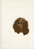 "animation art:Production Cel, ""Lady and the Tramp"" Animation Production Cel Original Art (Disney,1955). ..."