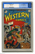 Golden Age (1938-1955):Western, Western Comics #2 Mile High pedigree (DC, 1948) CGC NM+ 9.6Off-white to white pages. This title paired the Wyoming Kid, who...
