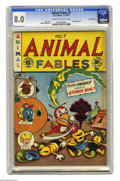 Golden Age (1938-1955):Funny Animal, Animal Fables #7 Crowley Copy pedigree (EC, 1947) CGC VF 8.0 Creamto off-white pages. An EC Funny Animal comic? Ah, but the...
