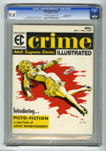 """Magazines:Crime, Crime Illustrated #1 Gaines File Copy pedigree (EC, 1955) CGC NM 9.4 Cream to off-white pages. This """"picto-fiction"""" magazine..."""